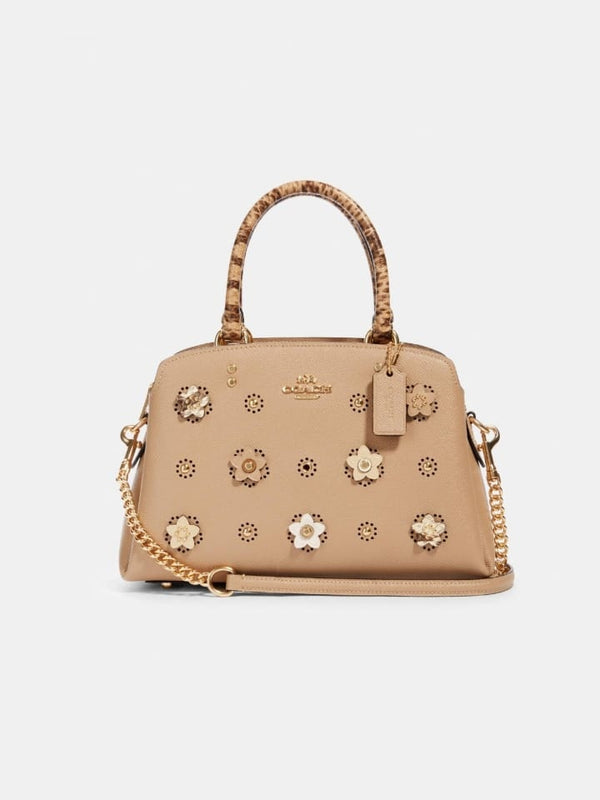Coach 91142  Mini Lilie Crossbody App Taupe Multi