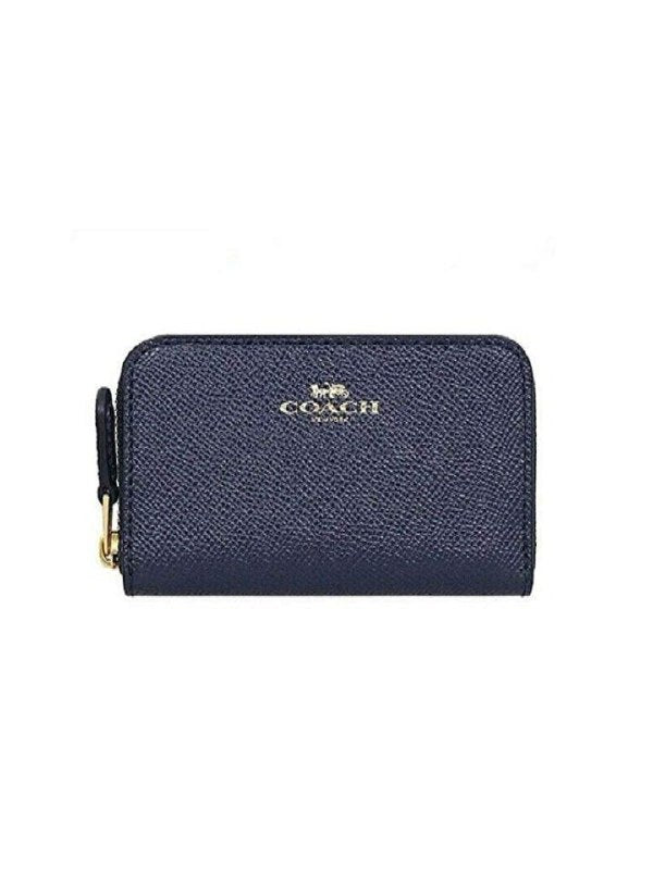 Coach F27569 Zip Around Coin Case Midnight