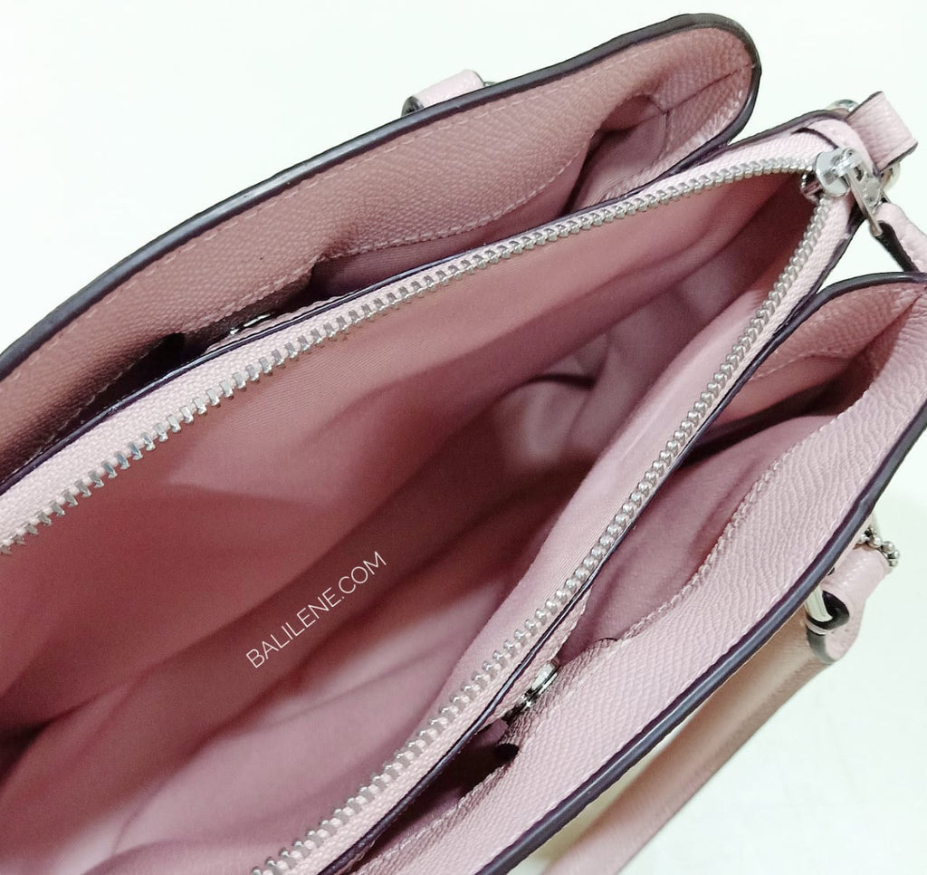 Coach F28977  Minii Sage Carryall In Crossgrain Leather Petal