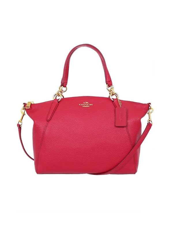 Coach F28993 Pebble Leather Small Kelsey True Red