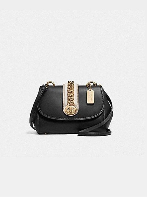 Coach F35114 Faye Crossbody Black Light Gold