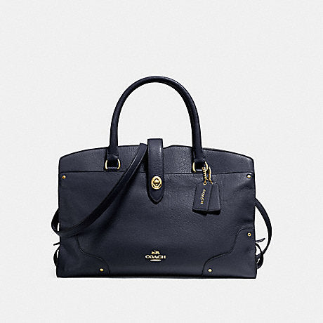 Coach F37167 Grain Mercer Satchel Navy