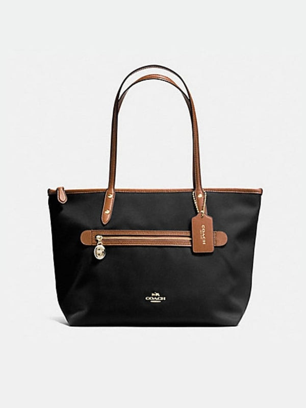 Coach F37237 Sawyer Tote In Polyester Twill Black