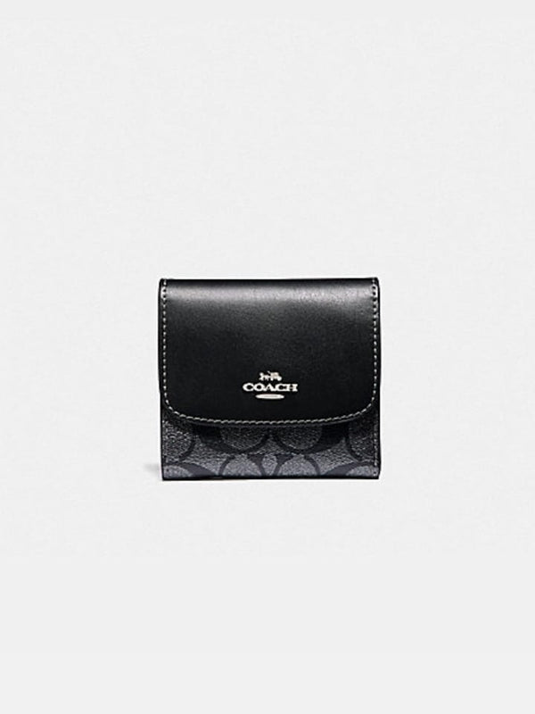 Coach F40646 Small Wallet Signature Gunmetal