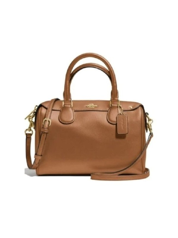 Coach F57521 Mini Bennett Satchel Crossgrain Dark Saddle Brown