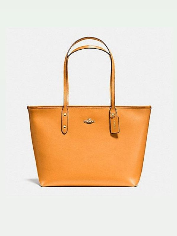 Coach F58846 City Tote Crossgrain Leather Canary