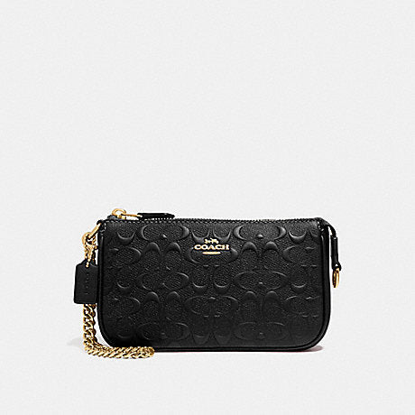 Coach F67567 Large Wrislet 19 In Signature Leather Black