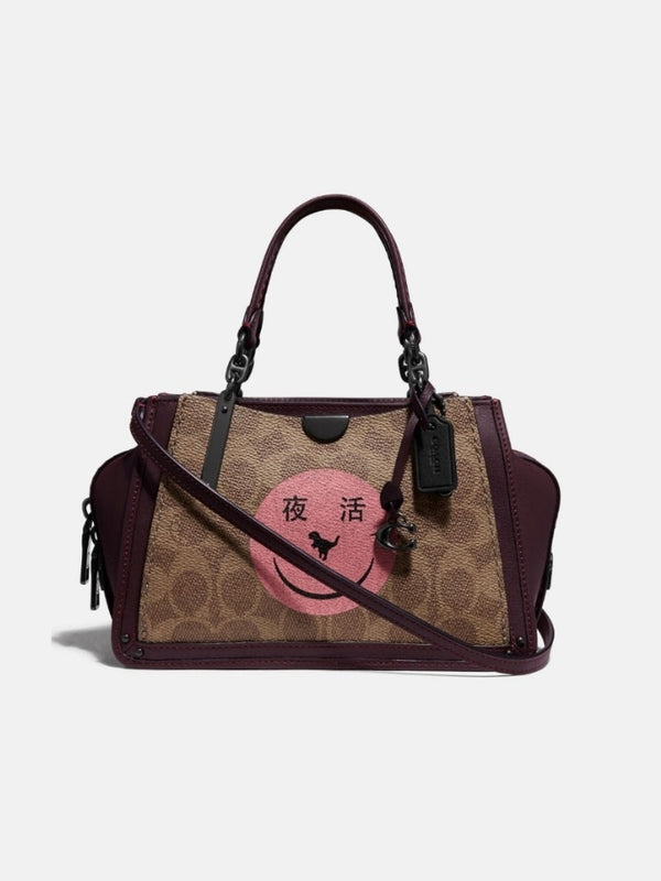 Coach F73946 Dreamer 21 Yeti Out Tan Oxblood