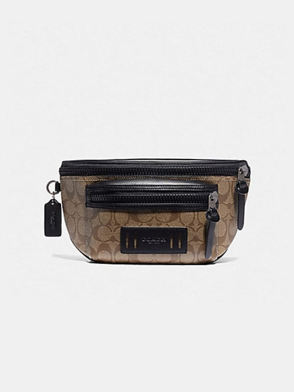 Coach F78727 Terrain Belt Bag In Signature Canvas Tan/Black
