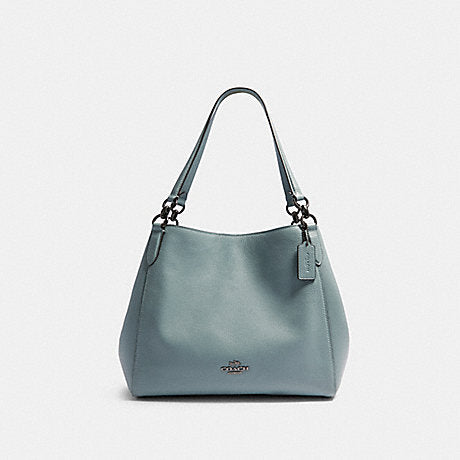 Coach F80268 Hallie Pabble Leather Blue