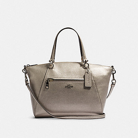 Coach F87686 Prairie Metallik Pabble Leather Platinum