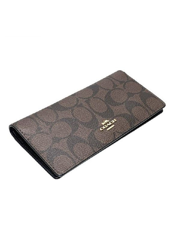 Coach F88026 Signature Bifold Wallet Brown Black
