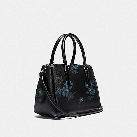 Coach F88562 Mini Surrey Floral Blue Black Multi