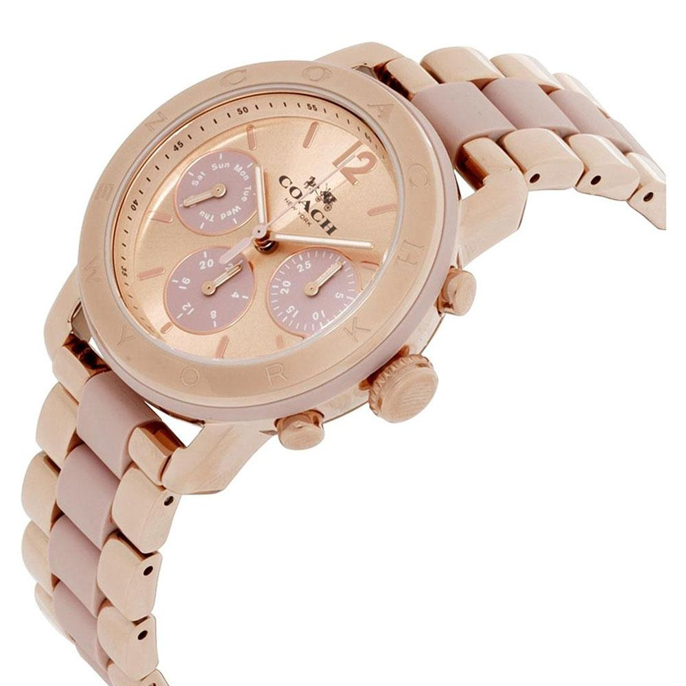Coach 14502535 Sport Ladies Analog Watch Fashion Rose Gold