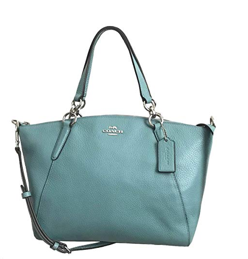 Coach 28993 Small Kelsey Pebble Leather Satchel Handbag Cloud