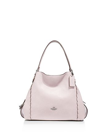 Coach 29800 Scalloped Edie 31 Polished Pebble Leather Shoulder Bag Ice Pink