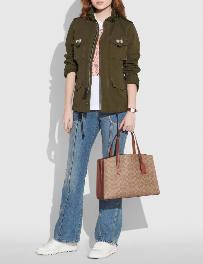 Coach 31210 Charlie Carryall In Signature Canvas Rust