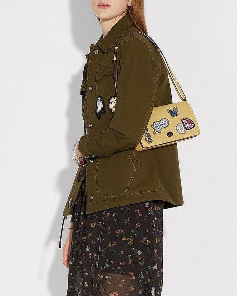 Coach 32757 Dinky With Patches Crossbody Sunflower