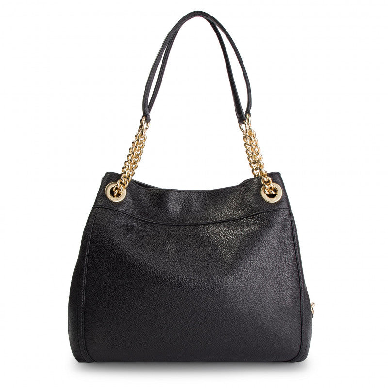 Coach 36855 Pabble Leather Turnlock Edie Black