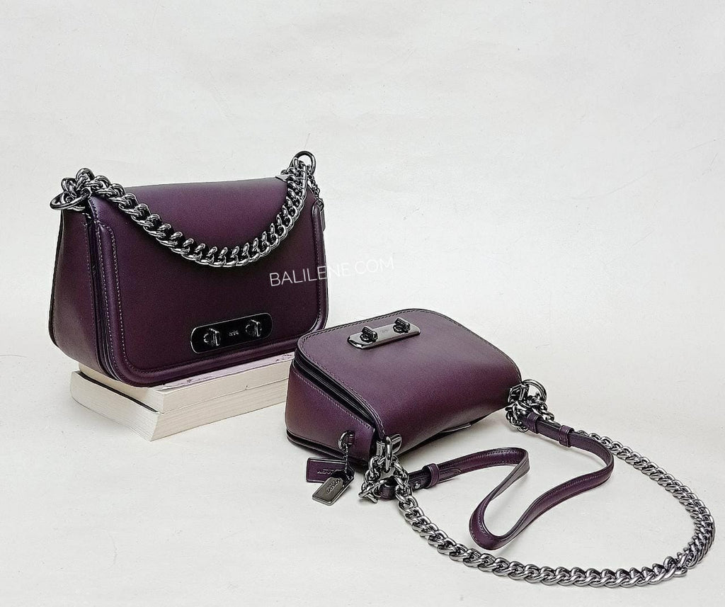 Coach 18858 Swagger 20 Crossbody Glovetan Oxblood