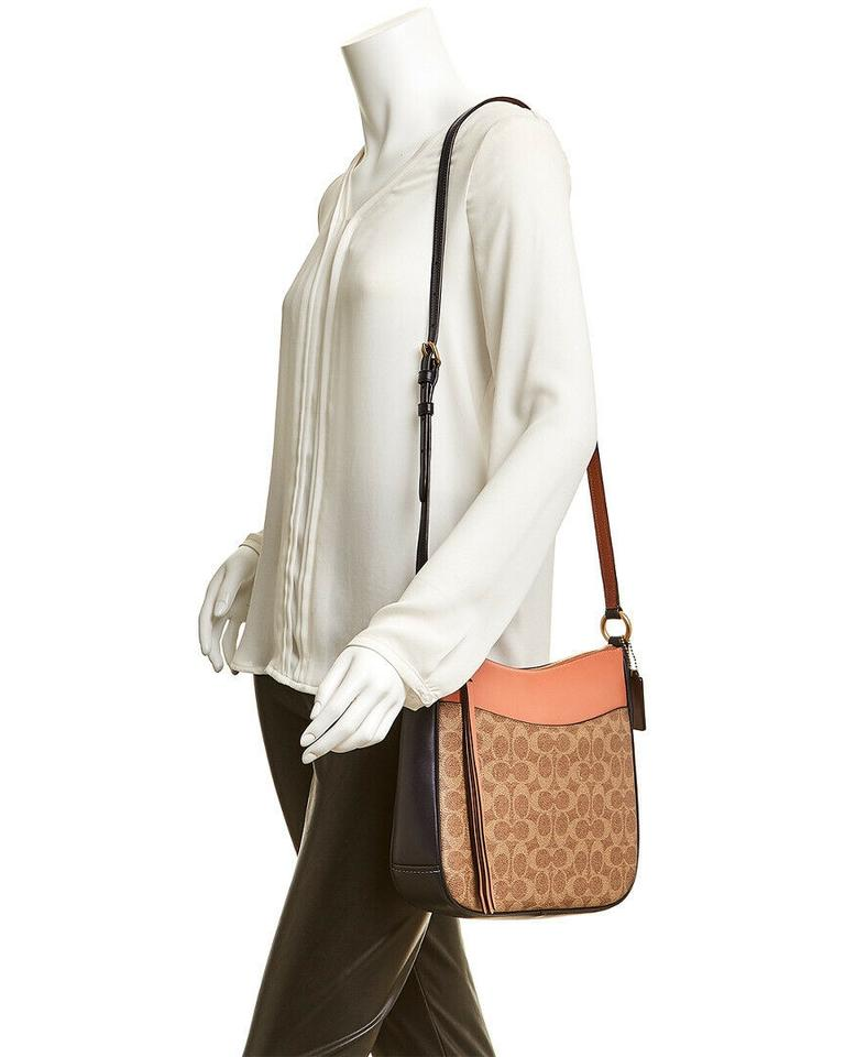 Coach  69594 Chaise Crossbody Signature Canvas Tan Light Peach
