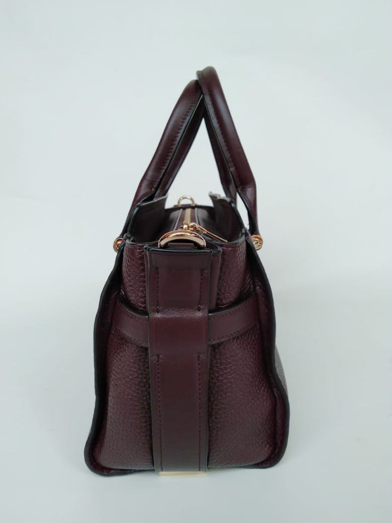 Coach F87295 Swagger 27 Pebble Leather Carryall Oxblood