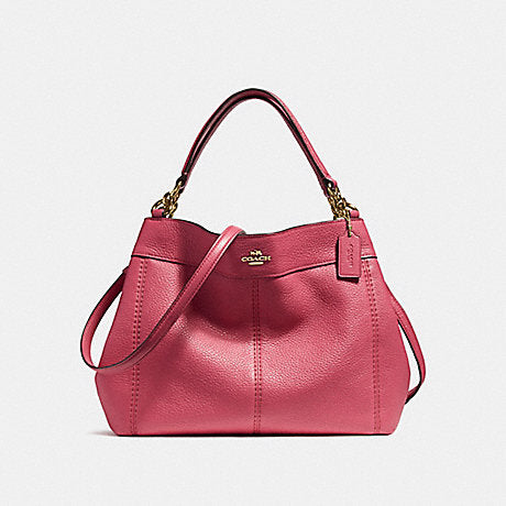 Coach F23537 Small Lexy Shoulder Bag In Pebble Rouge – Balilene 8a284237d2afc