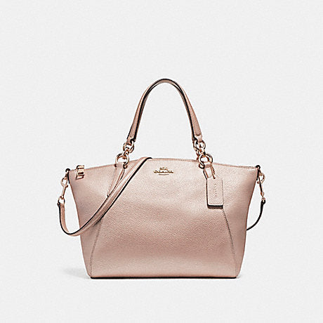 Coach F23538 Small Kelsey Pebble Leather Metallic Platinum