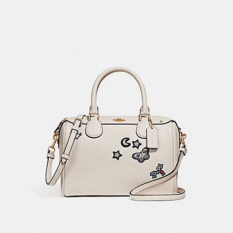 Coach F25799 Mini Bennet With Souvenir Embroidery Chalk Leather Bag