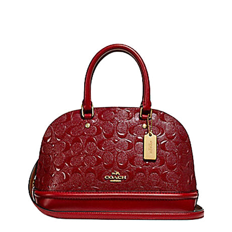 Coach F27597 Mini Sierra Satchel Debossed Dark Red