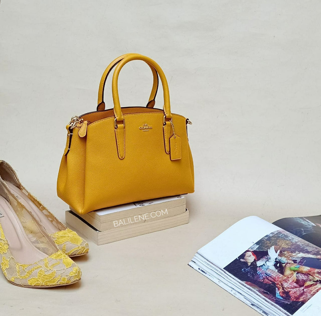 Coach F28977 Mini Sage Mustard Yellow