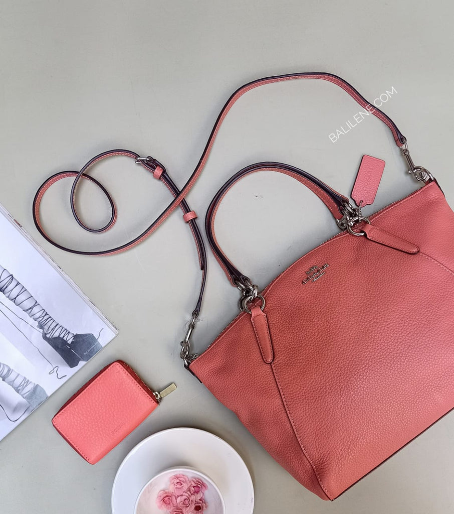 Coach F28993 Small Kelsey Satchel Coral