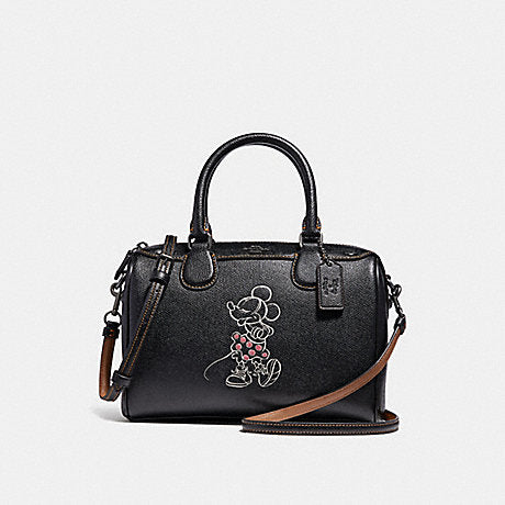 Coach F29356 Mini Bennett In Black With Minni Mouse