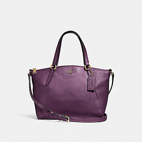 Coach F29639 Mini Kelsey Satchel Metallic Raspberry