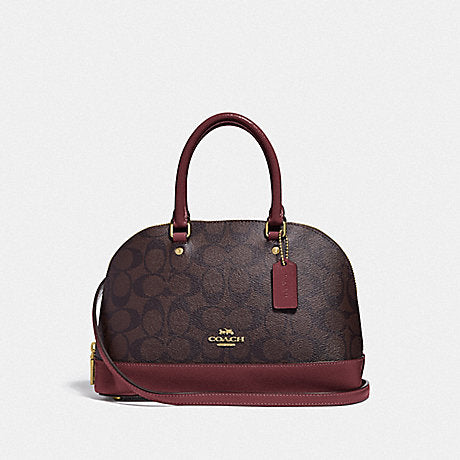 Coach F31977 Mini Sierra Signature Brown Wine