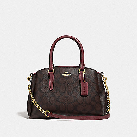Coach F31985 Signature Mini Sage Brown Wine