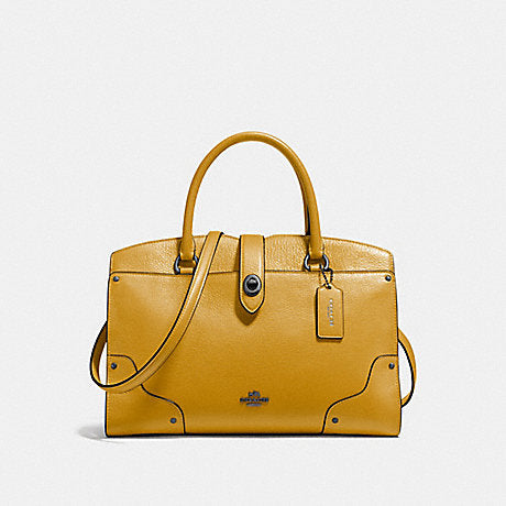 Coach F37575 Mercer Satchel 30 Flax