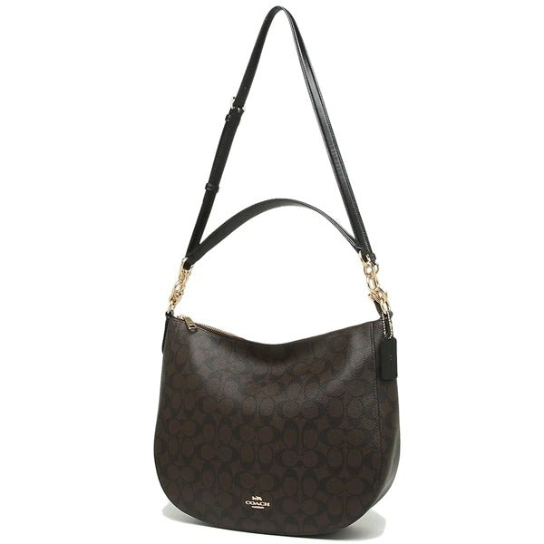 Coach F39527 Elle Hobo Sig Brown Black
