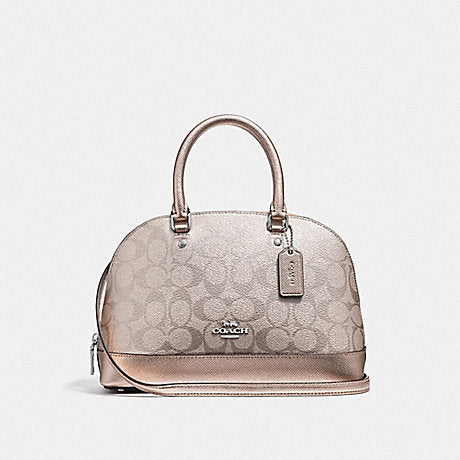 Coach F39556 Mini Sierra Satchel In Signature Canvas Platinum