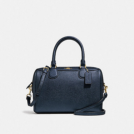 Coach F39706 Mini Bennett Satchel Metallic Denim