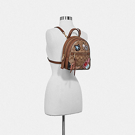 640cd8bbf0dd Coach F48642 Keith Haring Andi Backpack In Signature Canvas With Patches  Khaki Multi