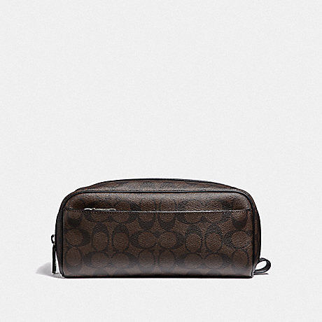 Coach F58540 Travel Kit In Signature Canvas Mahogany Black