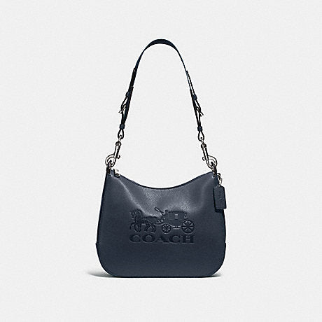 Coach F72702  Leather Jes Hobo Midnight