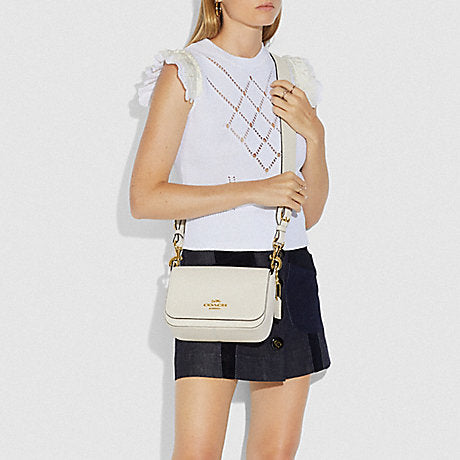 Coach F76698  Leather Jess Small Messenger Chalk