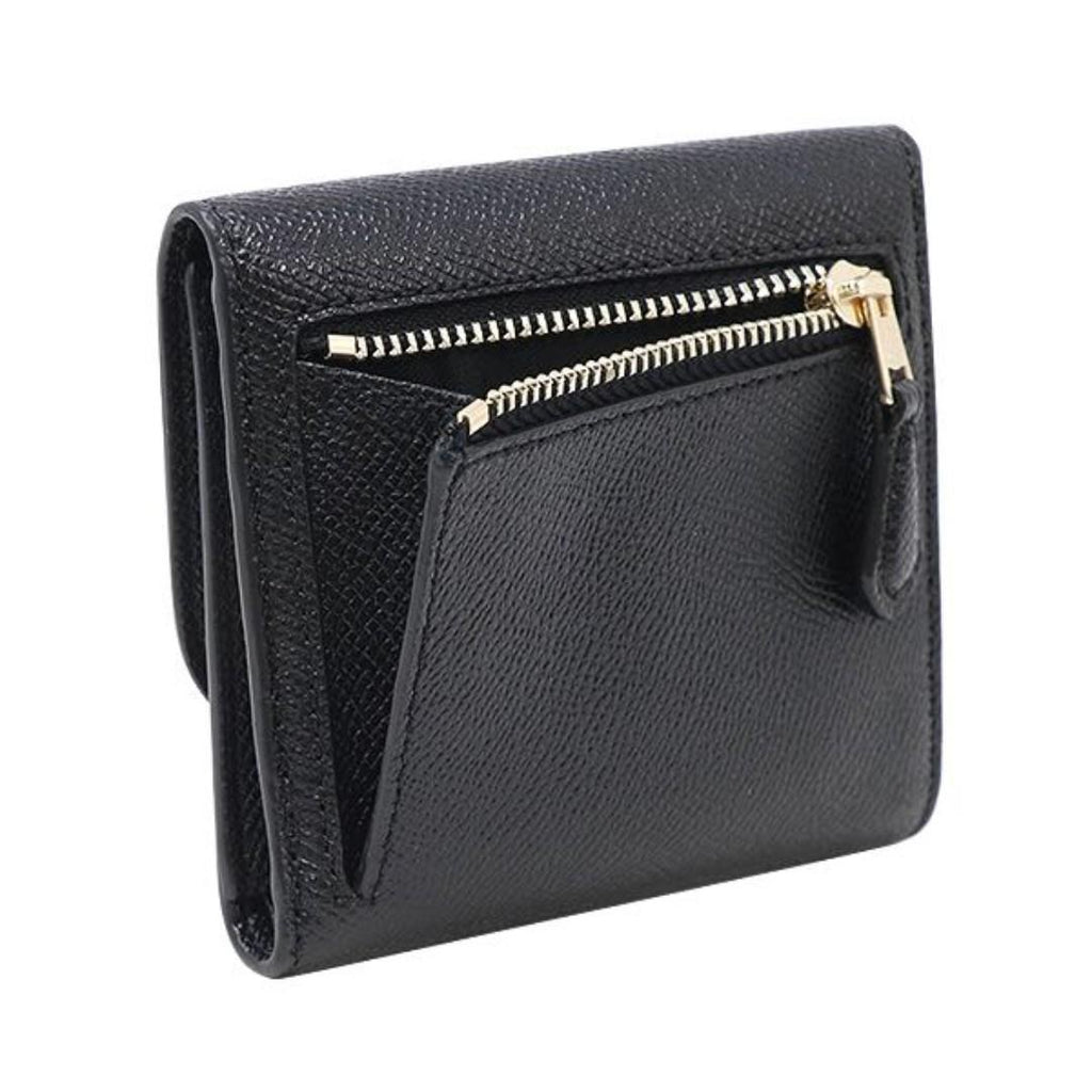 Coach F87588 Crossgrain Leather Small Wallet Black