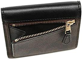 Coach F87589  Signature Pvc Small Wallet Brown Black