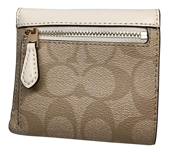 Coach F87589 Signature Pvc Small Wallet Light Khaki Chalk