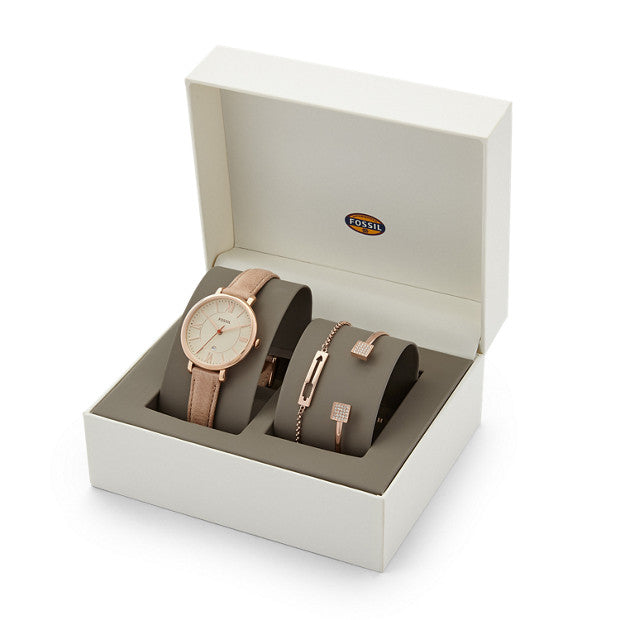 Fossil ES3780SET Jacqueline Watch And Jewelry Box Set
