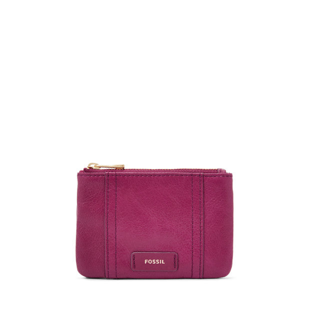 Fossil SL7102P  Ellis Zip Coin Purse Raspberry Wine