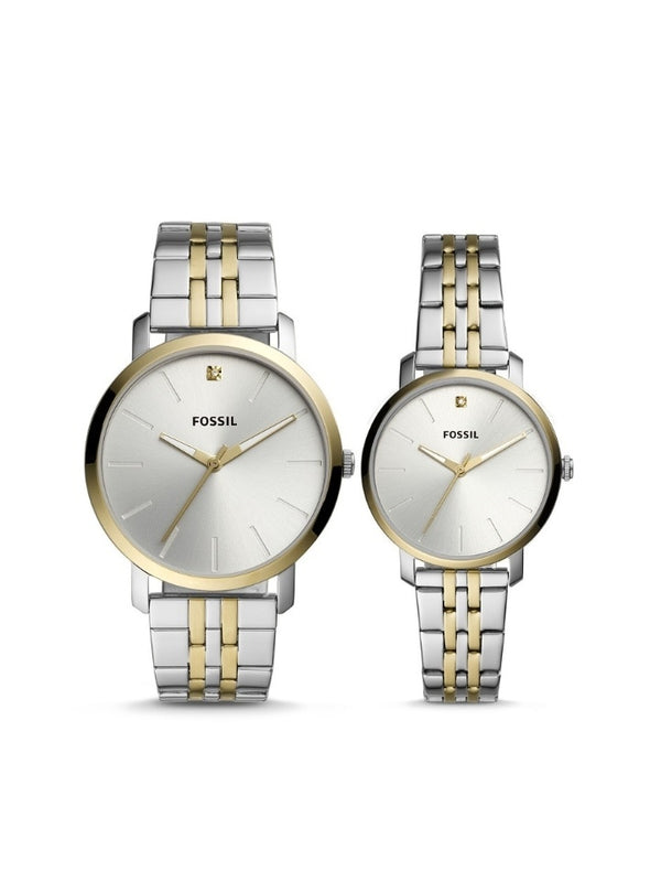 Fossil Bq2467set His And Her Fenmore Midsize Multifunction Stainless Steel Watch Gift Set